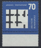 BRD 814 postfrisch mit Bogenrand unten