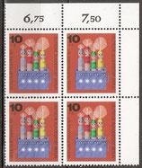 BERL  412 postfrisch Viererblock mit Bogenrand oben  (RWZ)