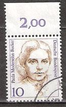 BRD 1359 gestempelt mit Bogenrand oben (RWZ 2,00)