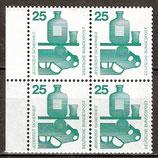 BRD 697 postfrisch Viererblock mit Bogenrand links