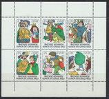 DDR 2281-2286 postfrisch Kleinbogen mit Plattenfehler