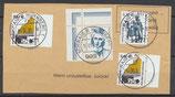 BRD 2x 2298+2295+2307 gestempelt auf Briefstück