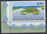 BRD 1850 postfrisch mit Eckrand links unten