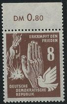 DDR 277 postfrisch Bogenrand oben (RWZ 0,80)