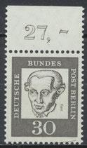 206 postfrisch Bogenrand oben (RWZ 27,00) (BERL)