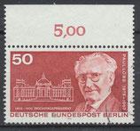 BERL 515 gestempelt mit Bogenrand oben (RWZ 5,00)