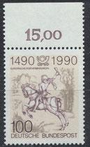 BRD 1445 postfrisch mit Bogenrand oben (RWZ 15,00)