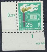DDR 1376 postfrisch Eckrand links unten