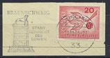 BRD 484 gestempelt auf Briefstück