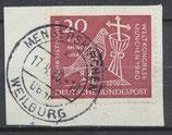 BRD 331 gestempelt auf Briefstück