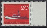 BRD 478 postfrisch mit Bogenrand rechts