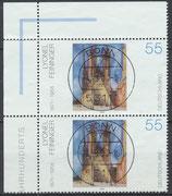 BRD 2294 gestempelt senkrechtes Paar Eckrand links oben