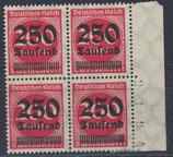 DR 292 postfrisch/mit Falz Viererblock mit Bogenrand rechts