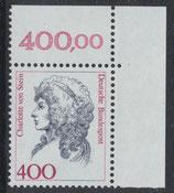 BRD 1582 postfrisch mit Eckrand rechts oben