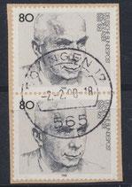 BRD 1355 gestempelt senkrechtes Paar auf Briefstück