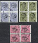 BRD 616-618 gestempelt Viererblocksatz