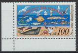 BRD 1454 postfrisch mit Eckrand links unten