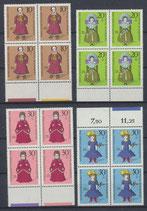 BRD 571-574 postfrisch Viererblock mit Bogenraänder