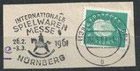 BRD 302 gestempelt auf Briefstück