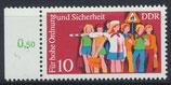 DDR postfrisch mit Bogenrand links
