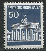 BRD 509 R postfrisch mit rückseitiger Zählnummer