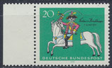 BRD 623 postfrisch Viererblock mit Bogenrand links