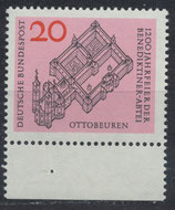 BRD 428 postfrisch mit Bogenrand unten