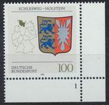 BRD 1715 postfrisch mit Eckrand rechts unten