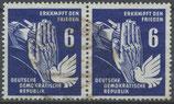 DDR 276 gestempelt waagrechtes Paar