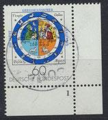BRD 1155 gestempelt mit Eckrand rechts unten