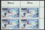 864-865 Vierblocksatz Eckrand rechts oben (RWZ) (BERL)