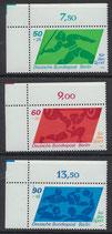 BERL 621-623 postfrisch mit Eckrand links oben