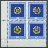 BRD 1209 postfrisch Viererblock mit Eckrand links unten