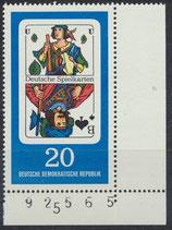DDR 1300  postfrisch mit Eckrand rechts unten
