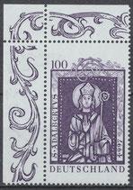 1914 postfrisch mit Eckrand links oben (BRD)
