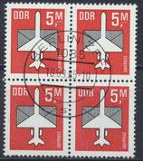 DDR 2967 philat. Stempel Viererblock