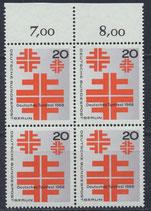 BERL 321 postfrisch Viererblock mit Bogenrand oben