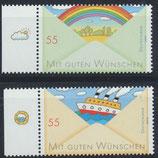 BRD 2786-2787 postfrisch mit Bogenrand links