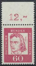209 postfrisch Bogenrand oben (RWZ 12,00) (BERL)