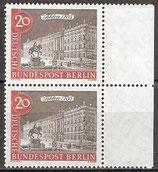 221 postfrisch senkrechtes Paar mit Bogenrand rechts (BERL)