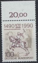BRD 1445 postfrisch mit Bogenrand oben (RWZ 20,00)