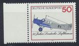 BRD 878 postfrisch mit Bogenrand links