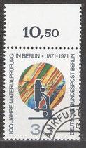 BERL  416 gestempelt mit Bogenrand oben (RWZ 10,50)