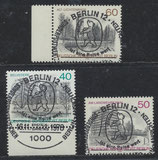 BERL 578-580 gestempelt mit Sonderstempel