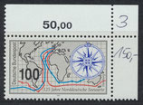 BRD 1647 postfrisch mit Eckrand oben rechts