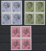 BRD 616-618 postfrisch Viererblock