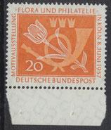 BRD 254 postfrisch mit Bogenrand unten