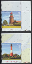 BRD 3089-3090 postfrisch mit Eckrand rechts oben