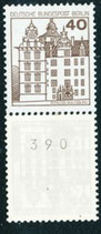 BERL 614 A R postfrisch, 3er Streifen mit rückseitger Nummer -390-