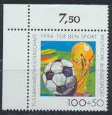 BRD 1719 postfrisch Eckrand links oben (RWZ 7,50)